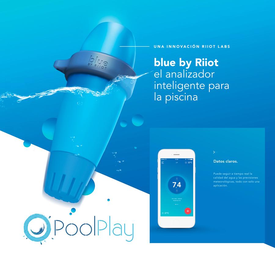 Promoci n analizador inteligente para piscinas blue by riiot for Limpieza fondo piscina