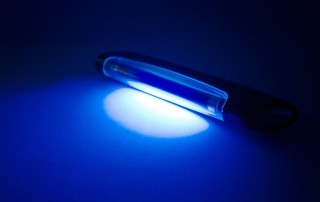 4081514 - uv lamp on table. blue