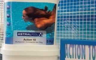 Promoción para el mantenimiento de piscinas: tabletas Action 10 de Astralpool