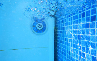 CRETE, GREECE, CIRCA SEPTEMBER 2016: a swimming pool filter working underwater. A cleaning system in water is necessary for preserve people's health.